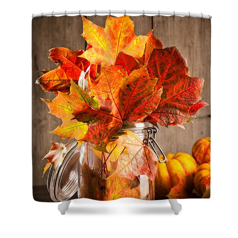 Autumn Leaves Still Life Shower Curtain For Sale By Amanda Elwell