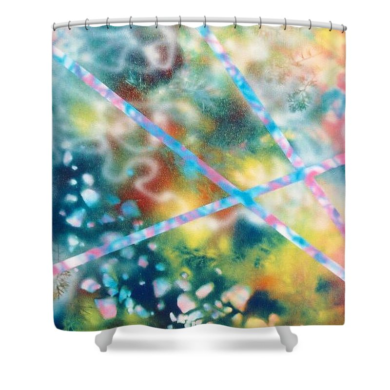 Abstract Shower Curtain featuring the painting Autumn by Micah Guenther