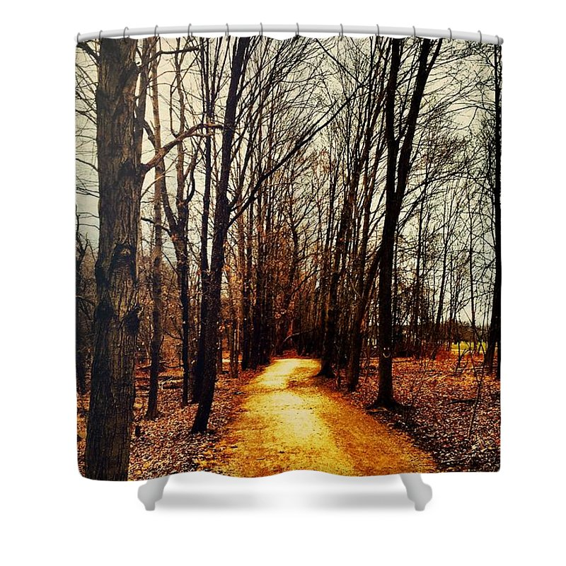 Fall Shower Curtain featuring the photograph Autumn Path by Drue DeMatteis
