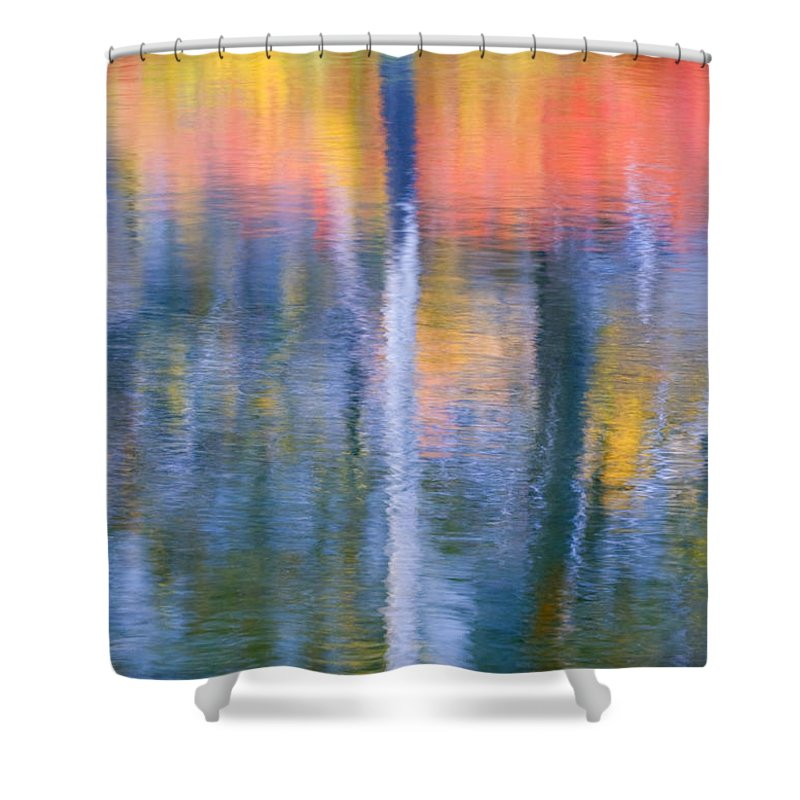 Reflection Shower Curtain featuring the photograph Autumn Resurrection by Mike Dawson