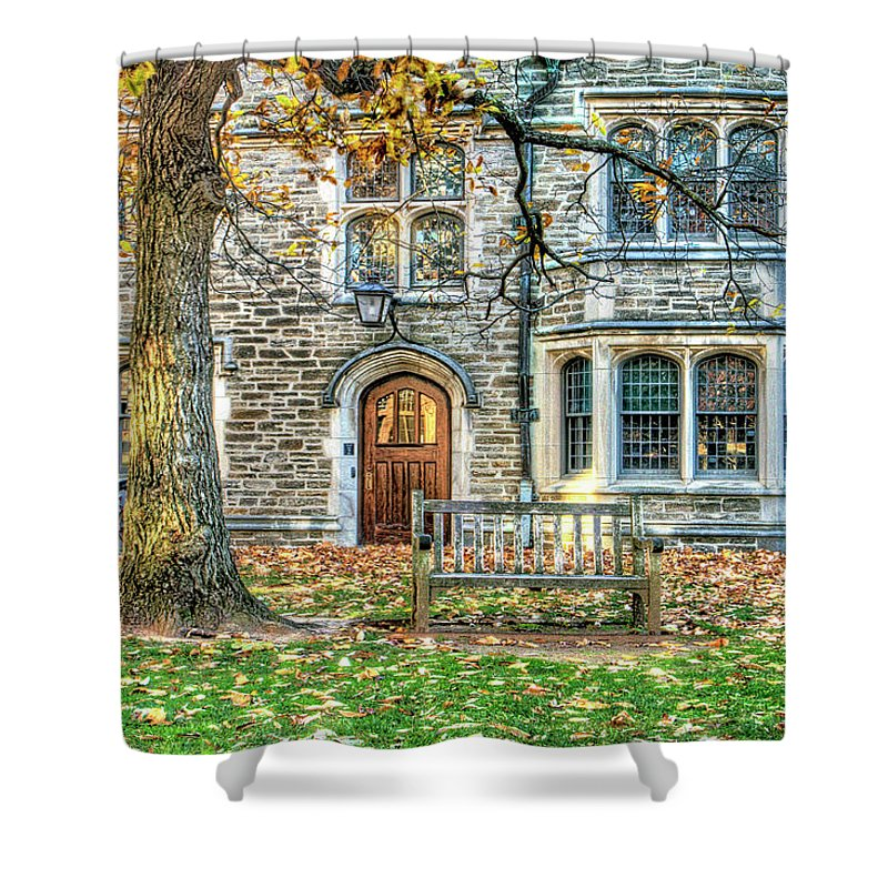 Recent Shower Curtain featuring the photograph Autumn Scene At Princeton University Princeton Nj by Geraldine Scull