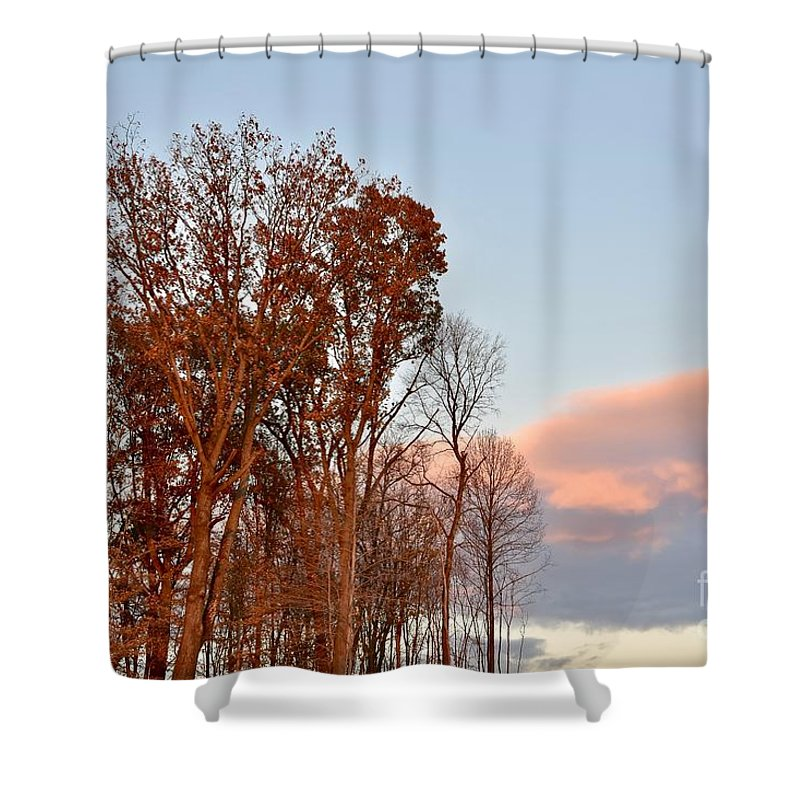 Amazing Sunset Shower Curtain featuring the photograph Autumn Sky by Jeramey Lende