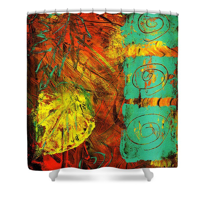 Autumn Shower Curtain featuring the painting Autumn by Wayne Potrafka