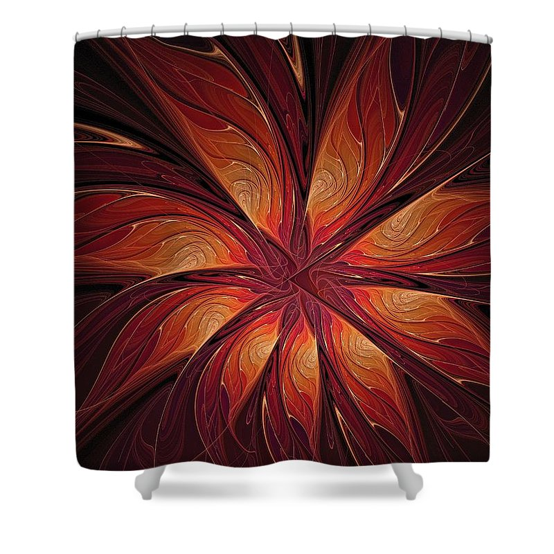 Digital Art Shower Curtain featuring the digital art Autumnal Glory by Amanda Moore