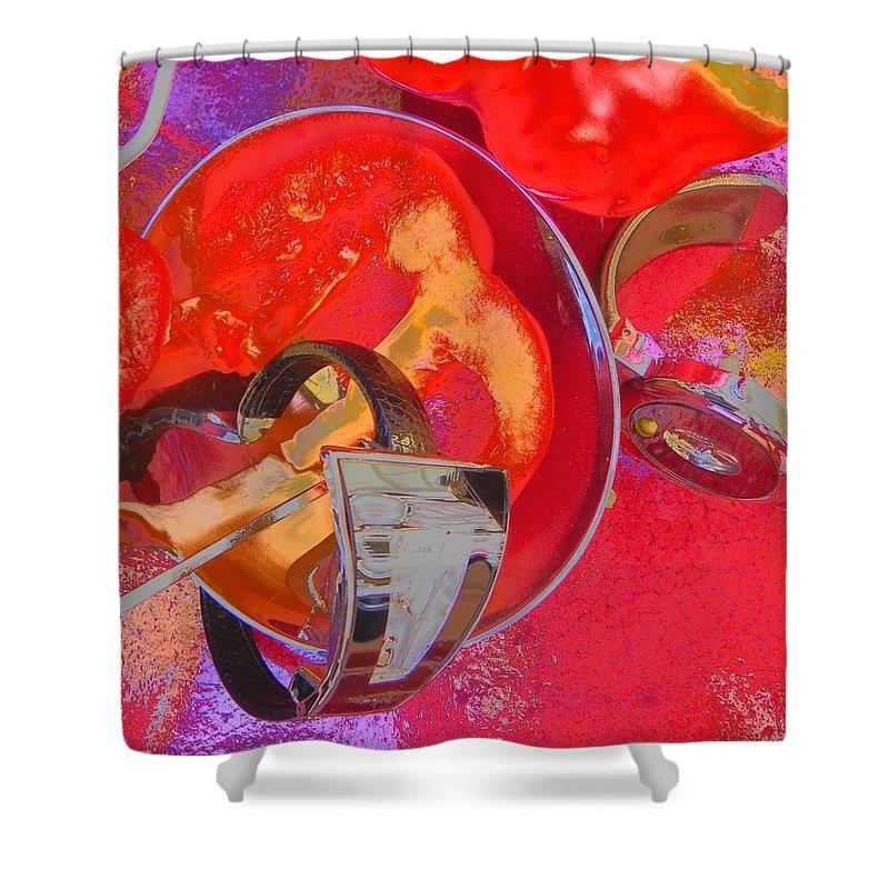 Waches Shower Curtain featuring the photograph Avant Garde Dinner by Evguenia Men