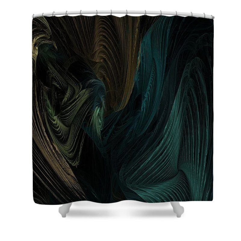 Digital Painting Shower Curtain featuring the digital art Avian Dreams1 by David Lane
