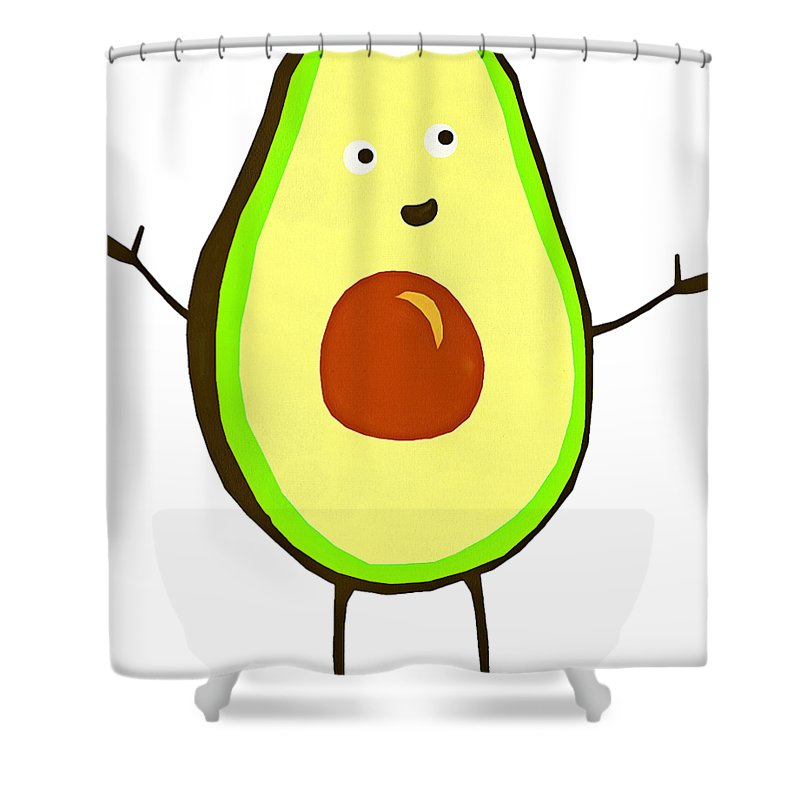 Avocado Fruit Shower Curtain For Sale By Fan Rizky
