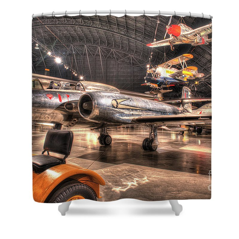 Dayton Shower Curtain featuring the photograph Avro Cf-100 Mk Iv Canuck by Greg Hager