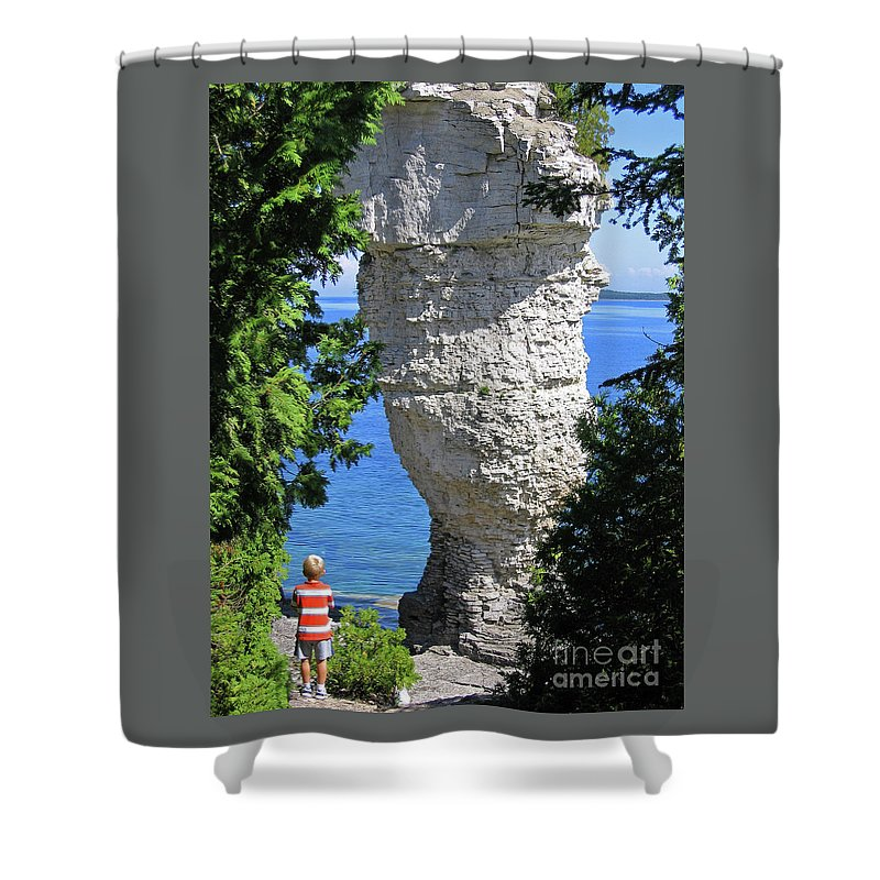 Stone Shower Curtain featuring the photograph Awesome All Around by Ann Horn