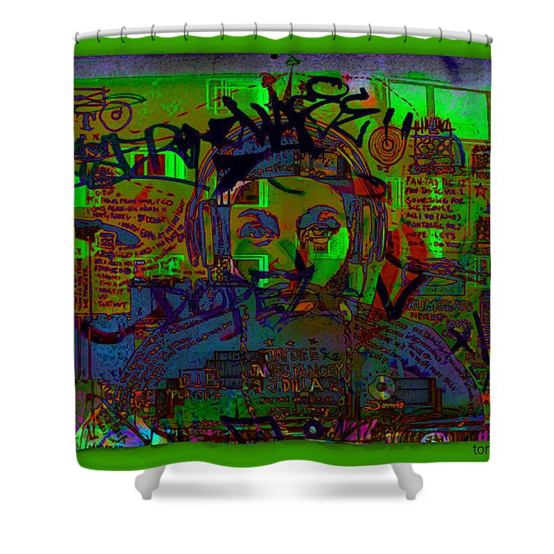 Down 42 Shower Curtain featuring the digital art Down 42 by Tony Adamo