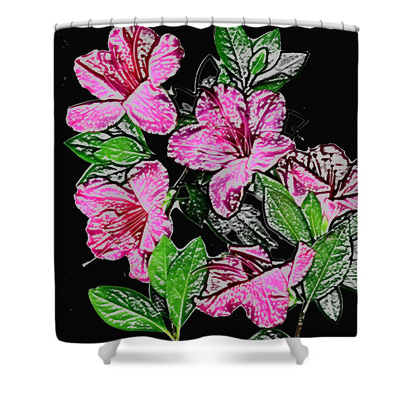 Azalea Shower Curtain featuring the photograph Azalea by Wayne Potrafka