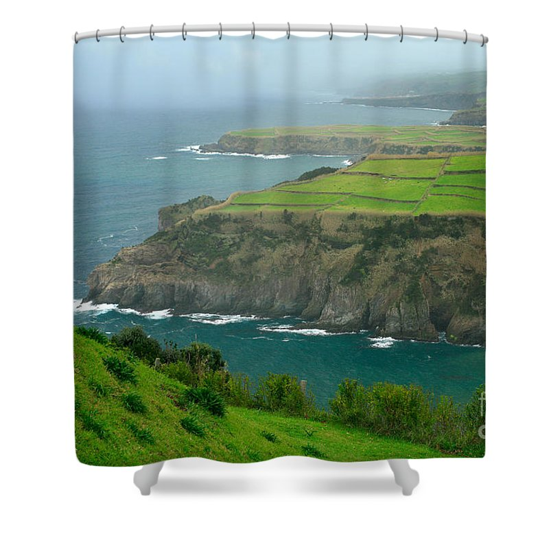 Azores Shower Curtain featuring the photograph Azores Coastal Landscape by Gaspar Avila