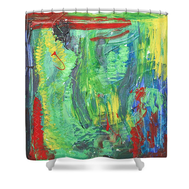 B Beautifull Shower Curtain featuring the painting B-Beautifull by Sitara Bruns