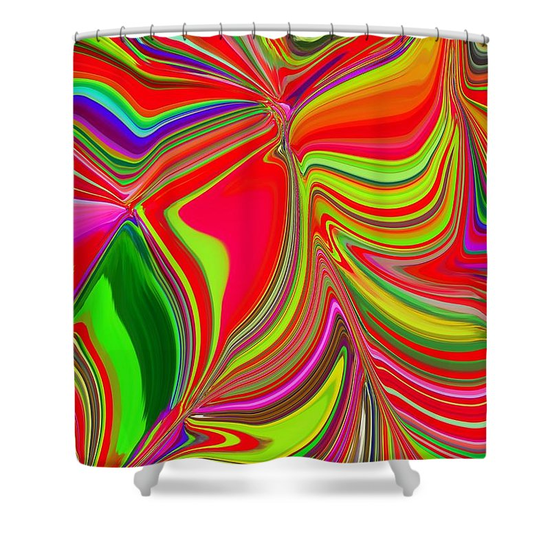 Abstract Shower Curtain featuring the photograph Ba Da Bloom 2 by Tim Allen
