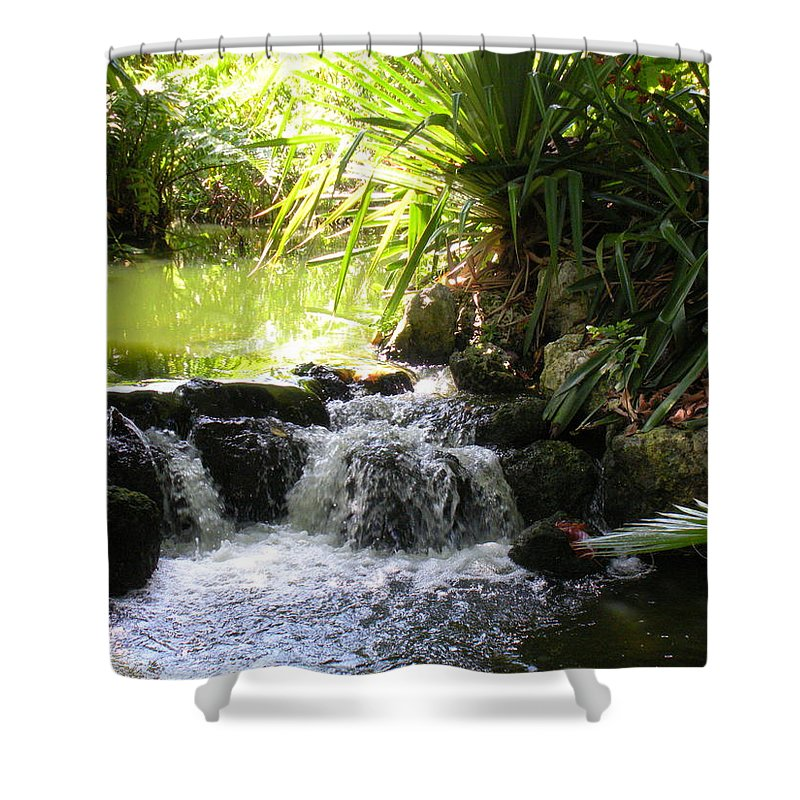 Water Shower Curtain featuring the photograph Babbling Brook by Maria Bonnier-Perez