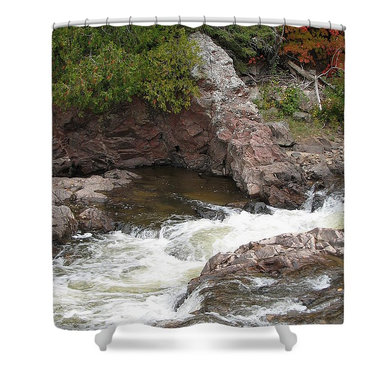 River Shower Curtain featuring the photograph Babbling by Kelly Mezzapelle