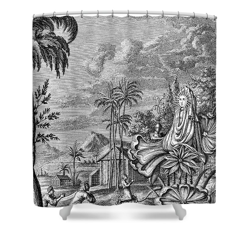 Ancient Shower Curtain featuring the photograph Babylon: Sun Worship by Granger