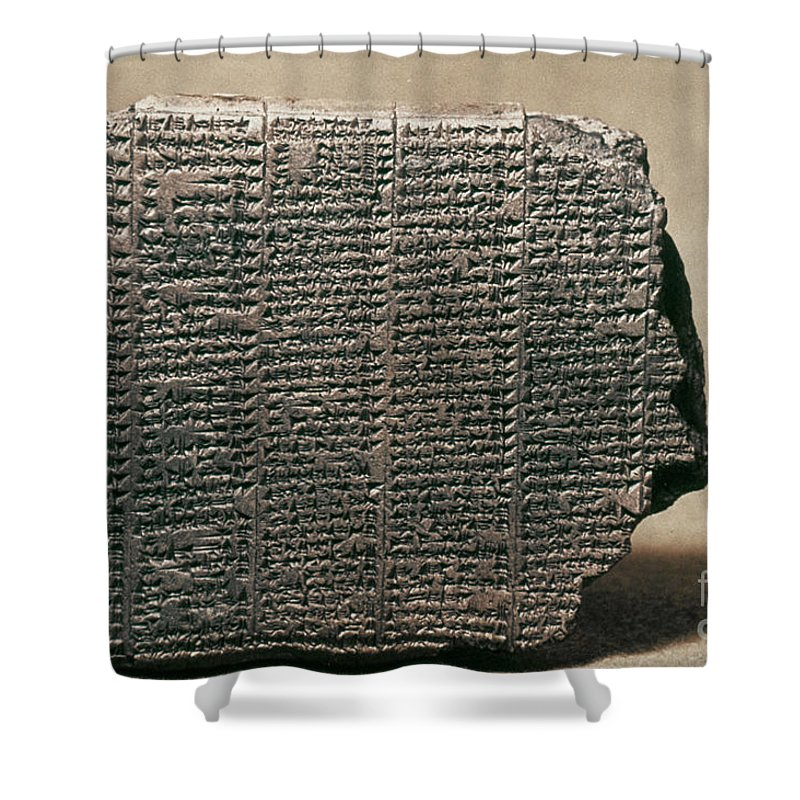 7th Century B.c. Shower Curtain featuring the photograph Babylonian Calendar by Granger