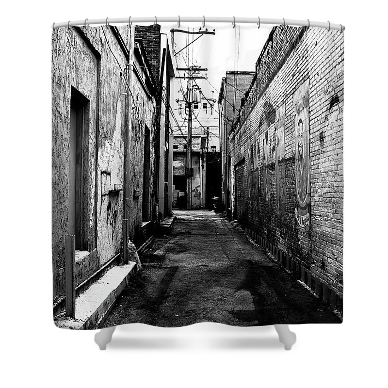 Fine Art Photography Shower Curtain featuring the photograph Back Alley by David Lee Thompson