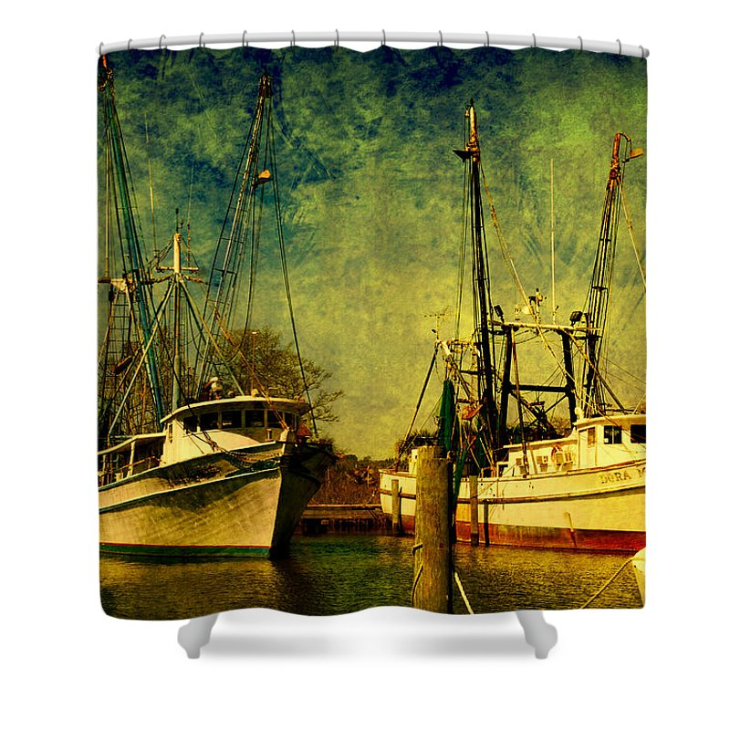 Harbor Shower Curtain featuring the photograph Back Home In The Harbor by Susanne Van Hulst