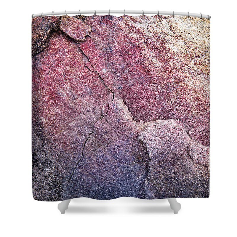Blue Shower Curtain featuring the photograph Background Dark Detail Block Of Stone by Jozef Jankola