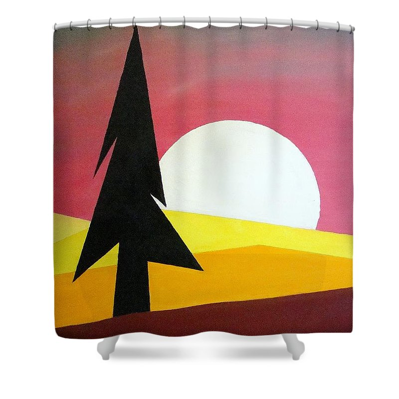 Impressionist Painting Shower Curtain featuring the painting Bad Moon Rising by J R Seymour