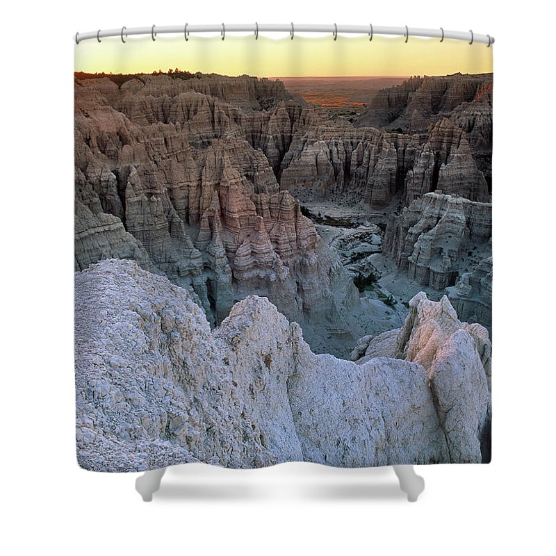 South Dakota Shower Curtain featuring the photograph Badlands by Leland D Howard