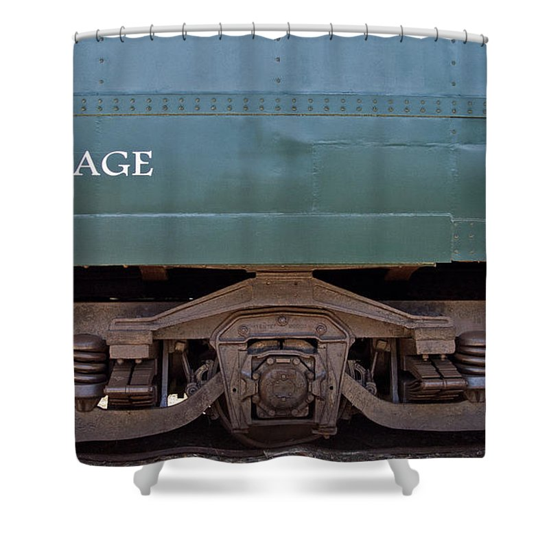 Baggage Shower Curtain featuring the photograph Baggage by Bernd Billmayer