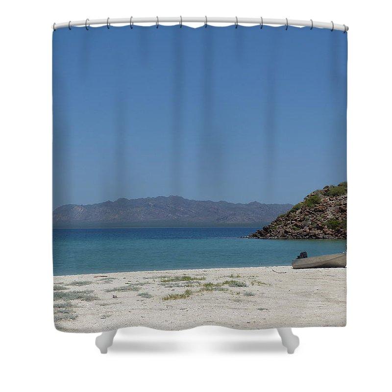 Bahia Concepcion Shower Curtain featuring the photograph Bahia Concepcion 4 by Jeff Brunton