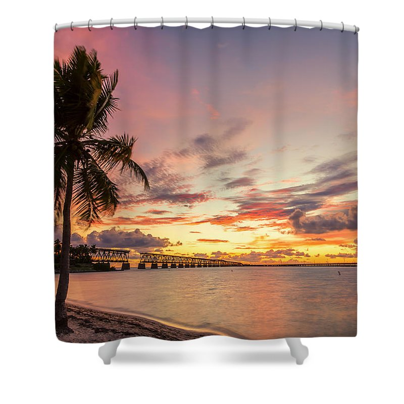Florida Shower Curtain Featuring The Photograph Bahia Honda State Park Sunset By Stefan Mazzola