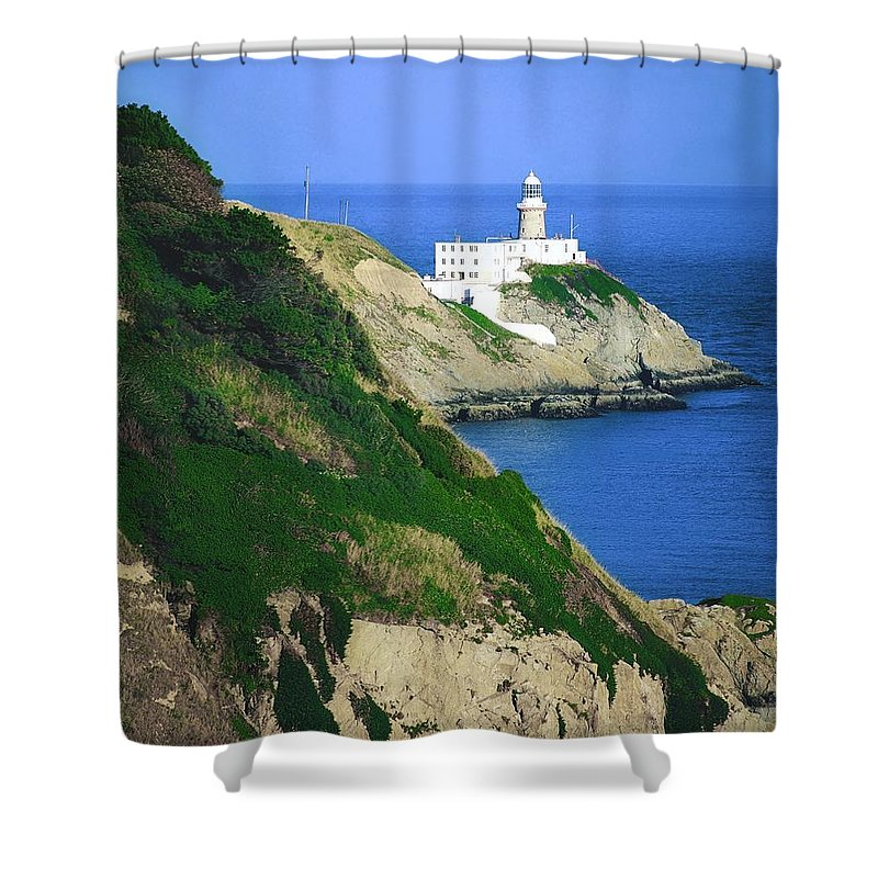 Bailey Shower Curtain featuring the photograph Baily Lighthouse, Howth, Co Dublin by The Irish Image Collection