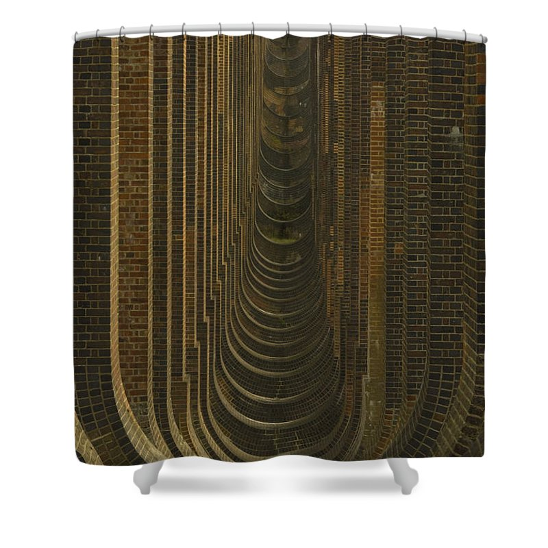 Balacombe Viaduct Shower Curtain featuring the photograph Balacombe Viaduct - Sussex by Chris Pickett