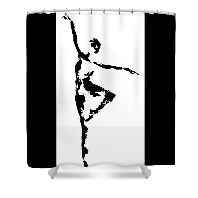 Dance Shower Curtain featuring the painting Balance by Emily Page