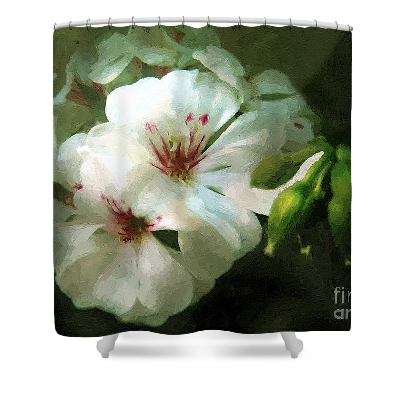 Classical Shower Curtain featuring the painting Balcony Beauty by RC DeWinter