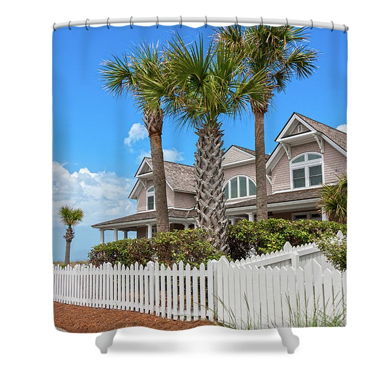 Bald Shower Curtain featuring the photograph Bald Head Island Perfect Day by Betsy Knapp