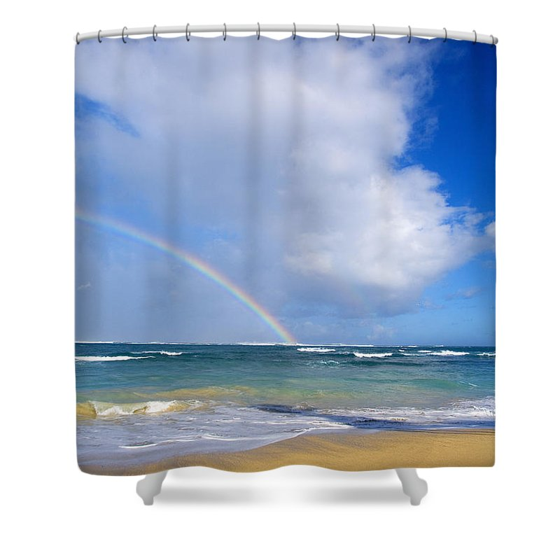Afternoon Shower Curtain featuring the photograph Baldwin Beach by Ron Dahlquist - Printscapes