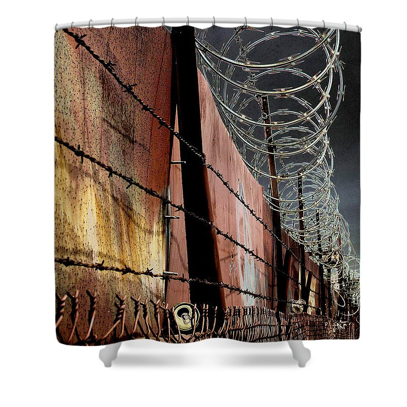 Wall Shower Curtain featuring the photograph Ballard In Seattle by Jeff Burgess