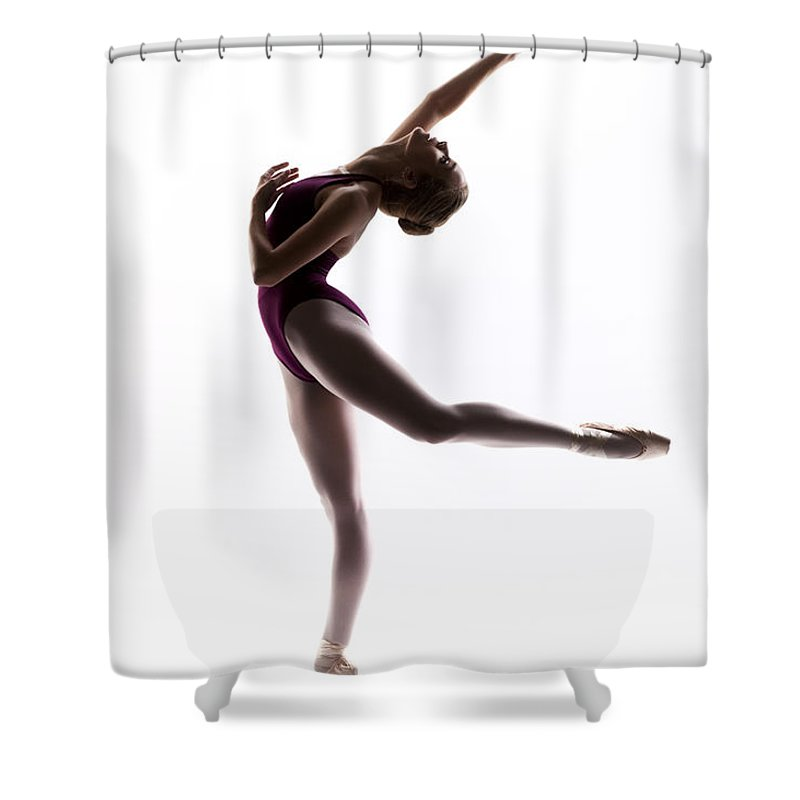 Ballerina Shower Curtain featuring the photograph Ballerina Reach by Steve Williams