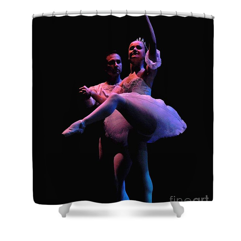 Ballerinas Shower Curtain featuring the photograph Ballet 2 by Reb Frost