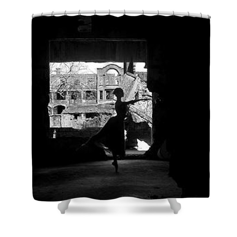 Ballet Dancer Shower Curtain featuring the photograph Ballet Dancer10 by George Cabig