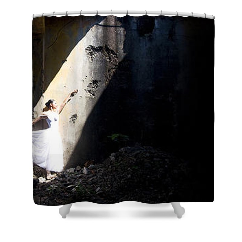 Ballet Dancer Shower Curtain featuring the photograph Ballet Dancer4 by George Cabig