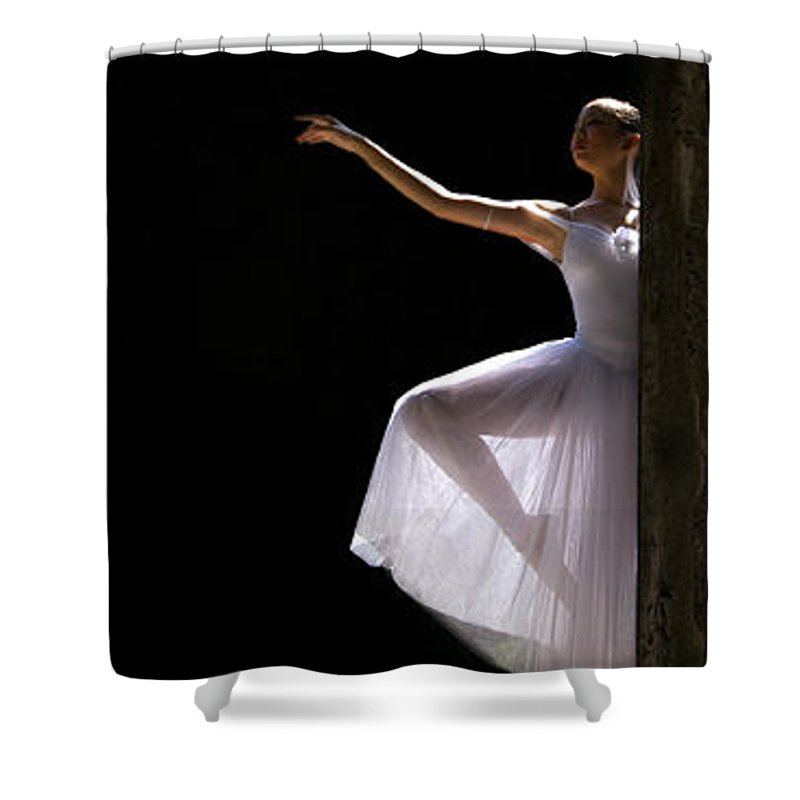 Ballet Dancer Shower Curtain featuring the photograph Ballet Dancer6 by George Cabig