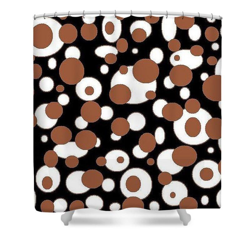 Shower Curtain featuring the digital art Balls by Jordana Sands