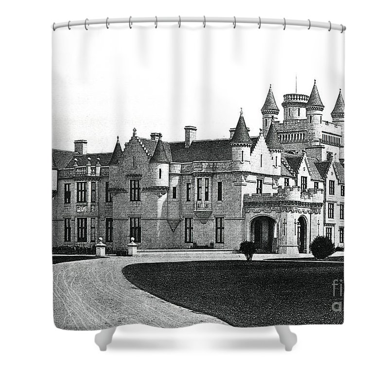 Balmoral Shower Curtain featuring the drawing Balmoral Castle by English School
