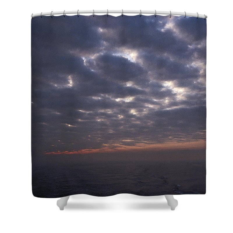 Nobody Shower Curtain featuring the photograph Baltic Sea, Sunset by Keenpress