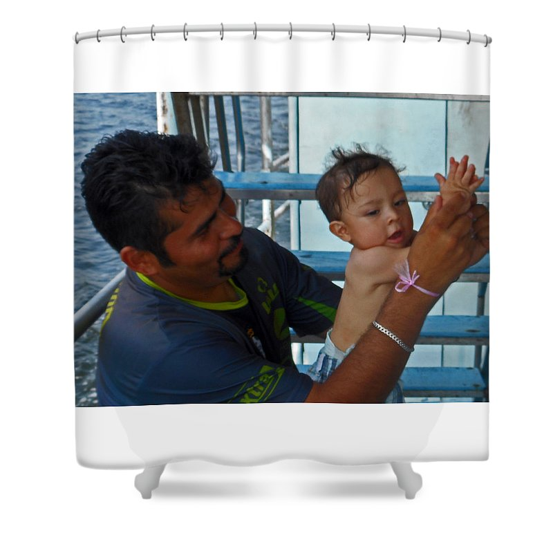 Bambino Shower Curtain featuring the photograph Bambino 3 by Ron Kandt
