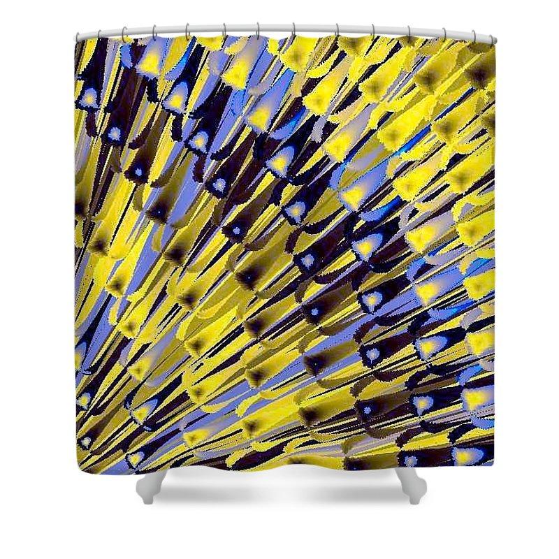 Bamboo Shower Curtain featuring the digital art Bamboo by Dragica Micki Fortuna