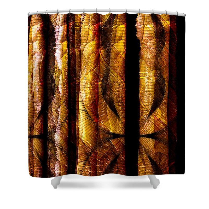 Bamboo Shower Curtain featuring the digital art Bamboo by Ron Bissett