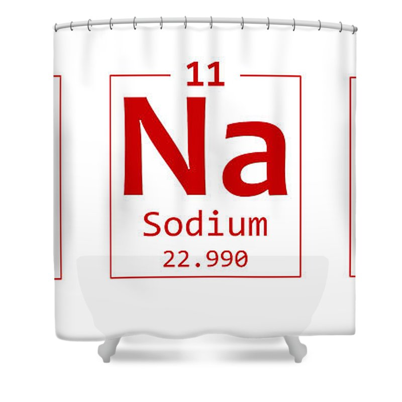 Periodic Table Words Shower Curtain Featuring The Photograph Banana Chemistry Element Word By Nishanth Gopinathan