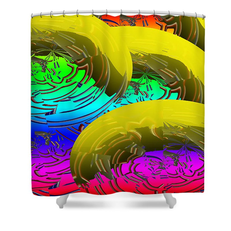 Banana Shower Curtain featuring the digital art Banana's In Ice Water by XERXEESE Color Schemes